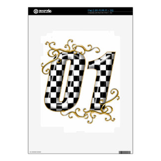 01 auto racing number decal for the iPad 2
