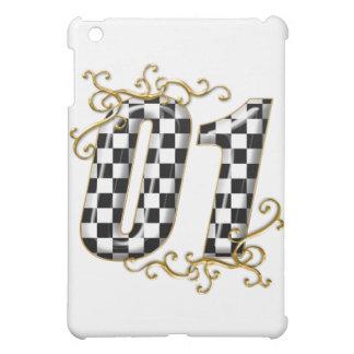 01 auto racing number iPad mini case