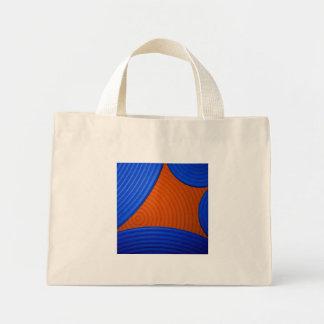 01 bolso azul y anaranjado de Starburst Bolsa