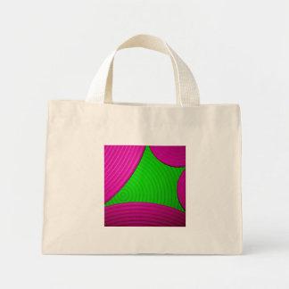 01 bolso rosado y verde de Starburst Bolsa Lienzo