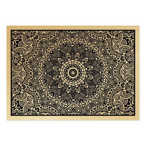 01 caleidoscópicos (tarjeta del oro) tarjetas de visita grandes