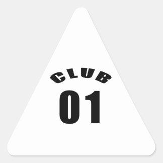 01 Club Birthday Designs Triangle Stickers