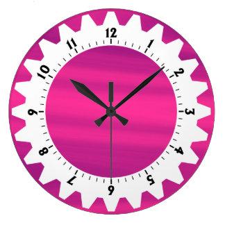01 dentados - Cielo rosado Reloj Redondo Grande