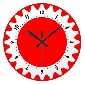 01 dentados - Rojo Reloj Redondo Grande
