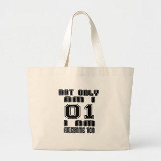 01 diseños del cumpleaños bolsa tela grande