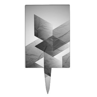 01 geométricos blancos y negros figura de tarta
