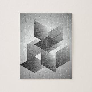 01 geométricos negro, blanco puzzle con fotos