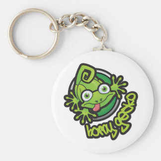 01 Horny Gecko Logo colour Basic Round Button Keychain