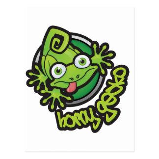 01 Horny Gecko Logo colour Postcard