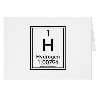 01 Hydrogen Greeting Card