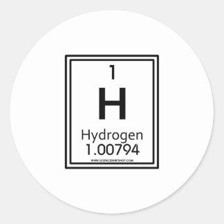 01 Hydrogen Classic Round Sticker