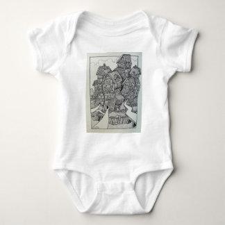 01 Inking 4 by Piliero Baby Bodysuit