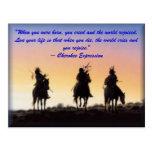 """01_native_american, """"cuando usted nació, usted cr… tarjeta postal"""