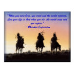 "01_native_american, ""When you were born, you cr... Postcard"