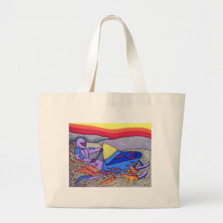 01 Snowmobile color by Piliero Large Tote Bag