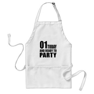 01 TODAY AND READY TO PARTY ADULT APRON