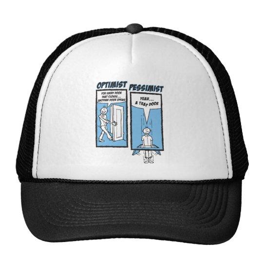 """01 - """"Trap Door"""" Optimist - Pessimist Trucker Hat"""