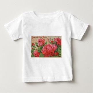01 vintage happy birthday roses postcard_free vint baby T-Shirt