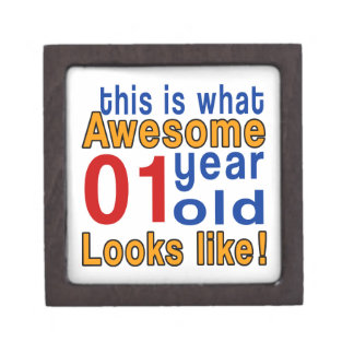 01 year old looks like premium keepsake box
