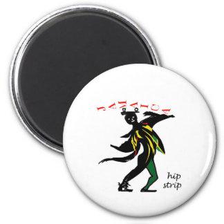 01jd Hip strip montego bay jamaica 2 Inch Round Magnet