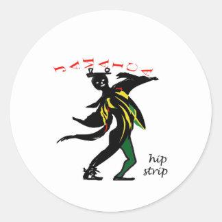 01jd Hip strip montego bay jamaica Classic Round Sticker