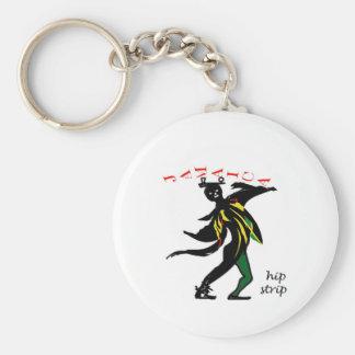 01jd Hip strip montego bay jamaica Basic Round Button Keychain