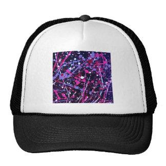 020.JPG Abstract Paint Splatter purple/blue violet Trucker Hat