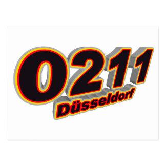 0211 Duesseldorf Tarjeta Postal