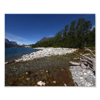 0225 8/12 lago st. Mary en glaciar Fotografía
