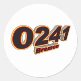 0241 Bremen Etiquetas Redondas