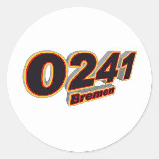 0241 Bremen Pegatinas Redondas