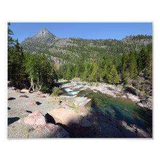 0287 8/12 Mc Donald Falls in Glacier Park. Photo Print