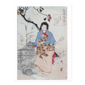 028 - Señora Chiyo y el agua quebrada Bucket.jpg Postal