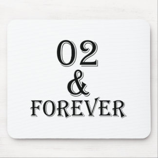 02 And  Forever Birthday Designs Mouse Pad