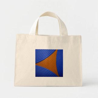 02 bolso azul y anaranjado de la vela bolsa de mano