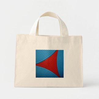 02 bolso azul y rojo del triángulo bolsa
