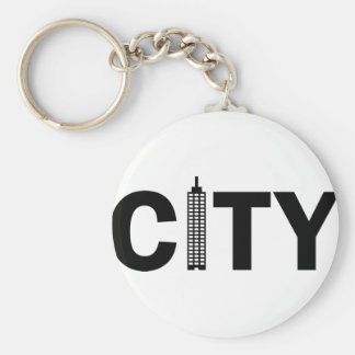 02_City.png Basic Round Button Keychain
