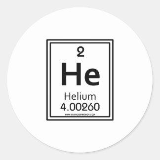 02 Helium Classic Round Sticker