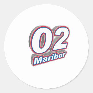 02 Maribor Classic Round Sticker