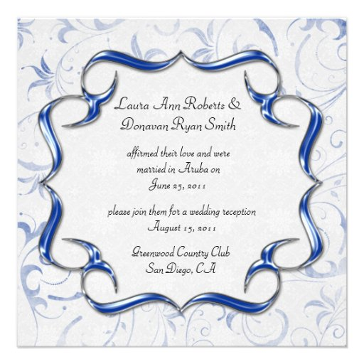 Royal Blue Wedding Invitation Templates Royal Blue And Silver Wedding