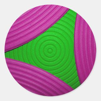 02 pegatina rosado y verde