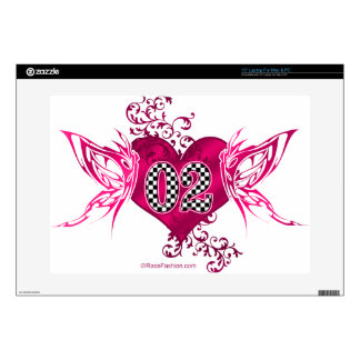 02 race number butterflies skins for laptops