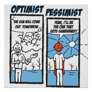 """02 """"Sunburn"""" Optimist - Pessimist Poster"""