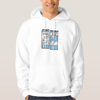 """02 - """"Sunburn"""" Optimist - Pessimist Sweatshirt"""