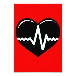 030719 MEDICAL HEART HEARTBEAT SYMBOL LOGO GRAPHIC CARD