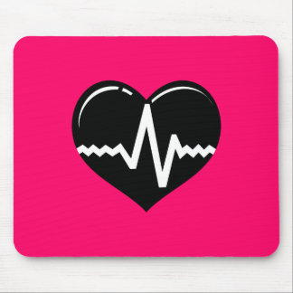 030719 MEDICAL HEART HEARTBEAT SYMBOL LOGO GRAPHIC MOUSE PAD