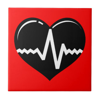 030719 MEDICAL HEART HEARTBEAT SYMBOL LOGO GRAPHIC TILE