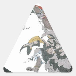 031 - Conejo del jade Gyokuto jpg Calcomanías Triangulos Personalizadas