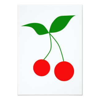 031 RED CARTOON RED CHERRIES CLIPART VECTOR GRAPHI CARD