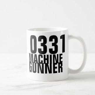 0331 Machine Gunner Classic White Coffee Mug